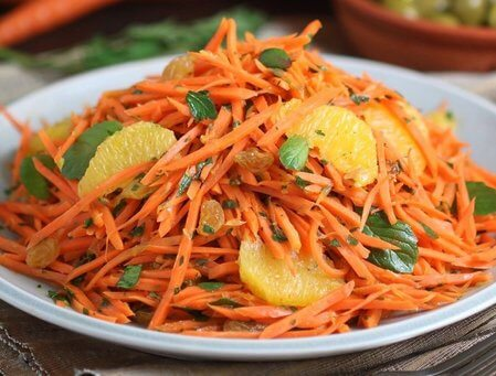 Ensalada de zanahoria cocida argelina
